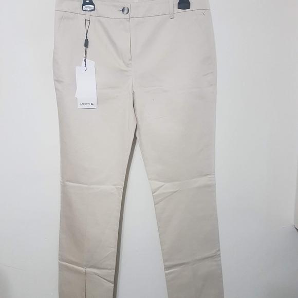 Cream Lacoste Pants